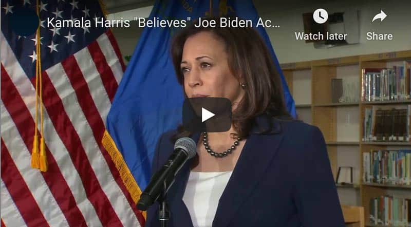 Kamala Believes Joe Biden Accusers